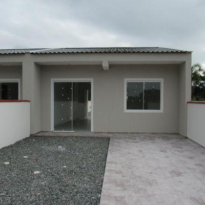 Casa nova c/49,35m², terreno livre. Avalia aceitar carro. Baln. Jd da Barra
