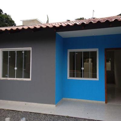 Casa nova c/ 48m², 2 quartos, 600m do mar, Balneário Rio Gracioso