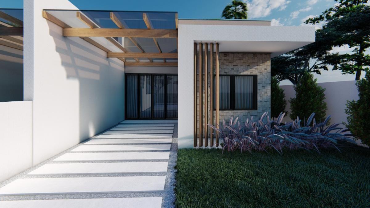 Casas novas, projeto moderno! Com 95m², 01 suíte + 02 quartos, Balneário Mariluz