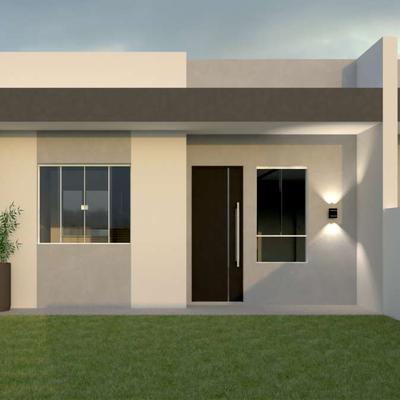Casa nova c/ 48,21m², 2 quartos, amplo terreno nos fundos, R$199.000,00