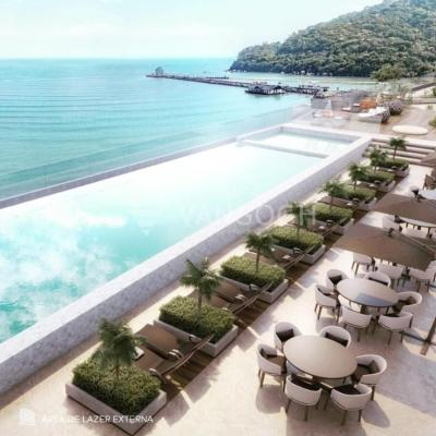 Apartamento á venda no edifício Pharos Frente Mar Balneario Camboriu