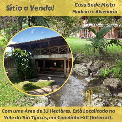 SITIO NO VALE DO RIO TIJUCAS - INTERIOR DE CANELINHAS-SC