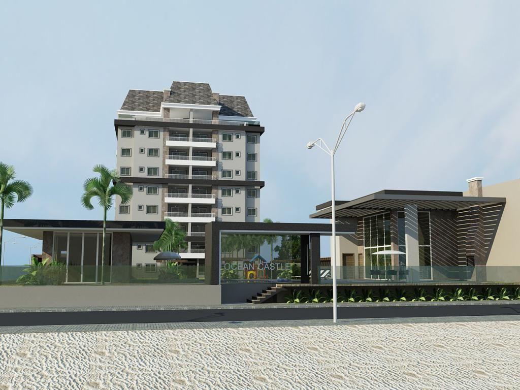 Lançamento! Apartamento Frente Mar, Edifício OCEAN CASTLE Home Club no Balneário Princesa do Mar