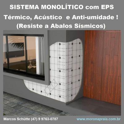 Constr. de Casas Térmicas, Acústicas e Anti-Umidade Sistema. Monolítico com EPS