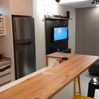 Apartamento no Centro com 2 Quartos e Vaga Privativa Móveis Novos