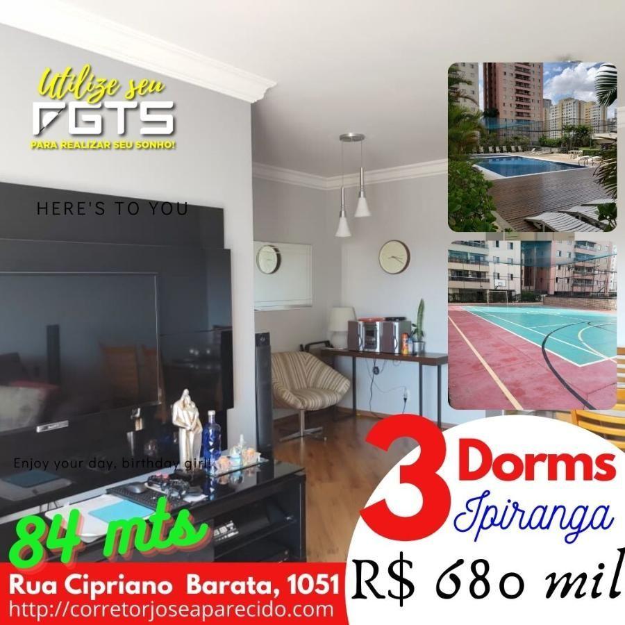 Apartamento de 3 dormitórios no bairro do Ipiranga