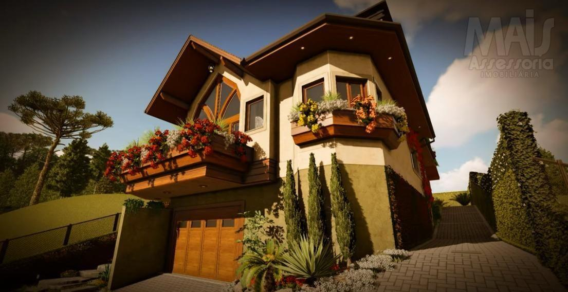 Casa para Venda em Gramado, Mato Queimado, 3 dormitórios, 3 suítes, 5 banheiros, 4 vagas