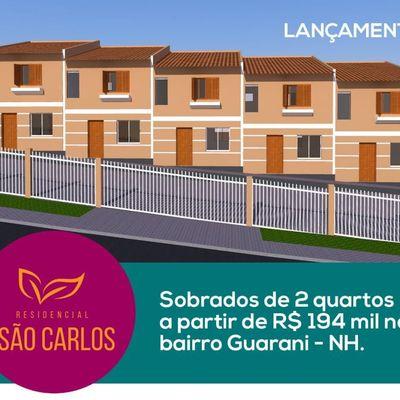 Casa para Venda em Novo Hamburgo, Guarani, 2 dormitórios, 2 banheiros, 1 vaga