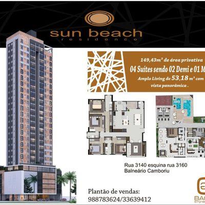 Apartamento no Residencial Sun Beach - Balneario Camboriu
