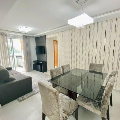 Apartamento com 01 suíte + 02 quartos todo mobiliado no bairro Baependi.