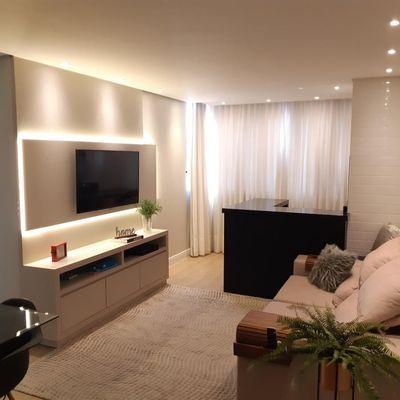 Apartamento semimobiliado 3 quartos no Jaraguá Esquerdo