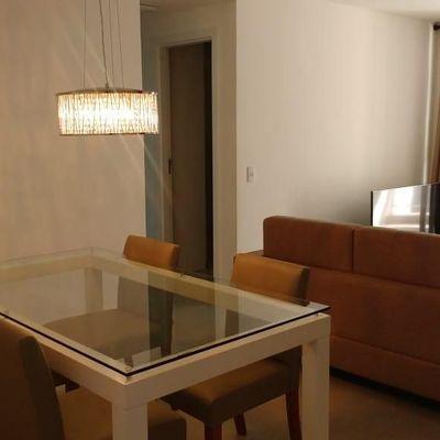 Apartamento novo mobiliado móveis eletrodomésticos 2 quartos suite vaga