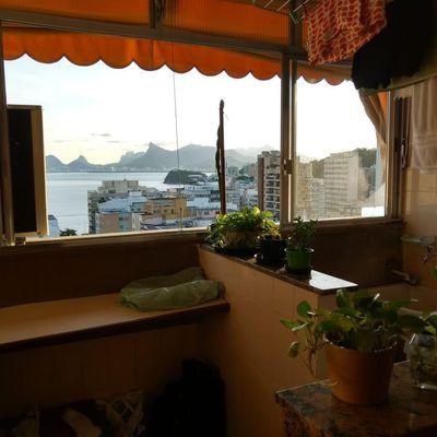 Apartamento amplo vista mar miolo Icaraí 2 quartos vaga