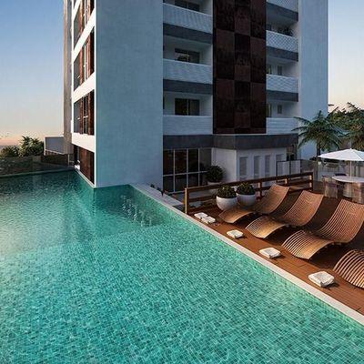 Apartamento com vista para o mar na Praia Brava com 2 dormitórios, sendo 1 suíte + sacada com churrasqueira