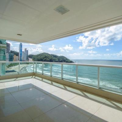 Apartamento Alto Padrão Frente para o Mar Balneário Camboriú com 4 Suítes e 4 Vagas Garagem