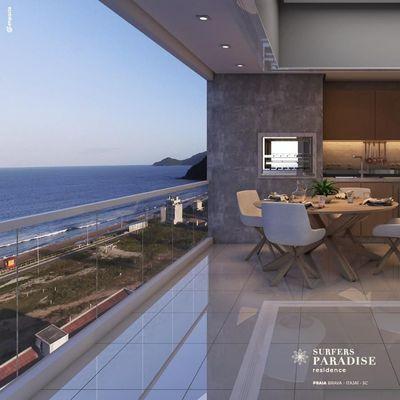 Lançamento! Apartamento novo com vista para a Praia Brava + 2 suítes (sendo 1 master) + ampla sacada com churrasqueira