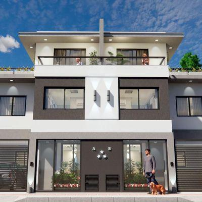 Lançamento! Casa de três pavimentos no bairro das Nações com 3 dormitórios (sendo 1 suíte) + terraço com churrasqueira + sacada