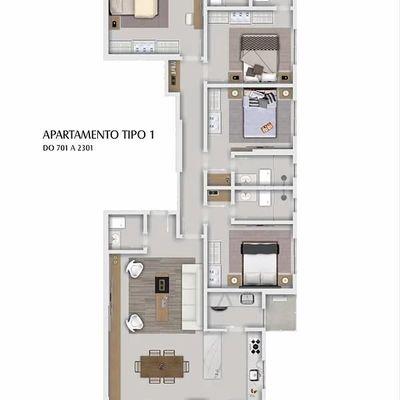 Lançamento! Apartamento no centro de Balneário Camboriu com 4 suítes