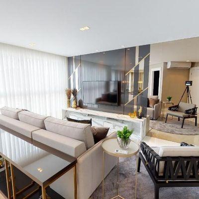Apartamento mobiliado e decorado, 2 dormitórios, 2 suítes e 2 vagas de garagem