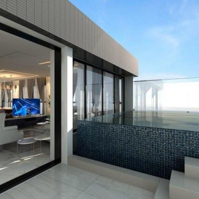 Cobertura Triplex na Praia Brava com 4 suítes + 4 vagas de garagem + piscina privativa