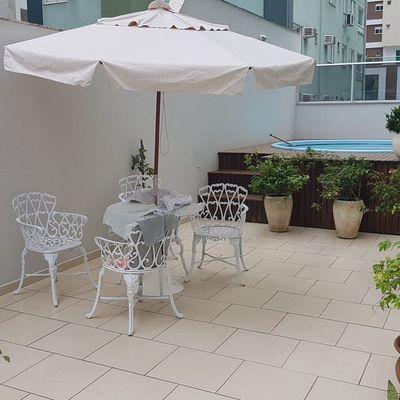 Excelente Apartamento Diferenciado à Venda Com 3 Suítes Mobiliado Terraço Com Piscina Próximo da Brasil 3 Vagas de Garagem Centro Balneário Camboriú
