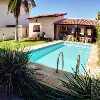 Ótima casa 3 quartos, 1 suíte, piscina e churrasqueira no Trevo de Piratininga