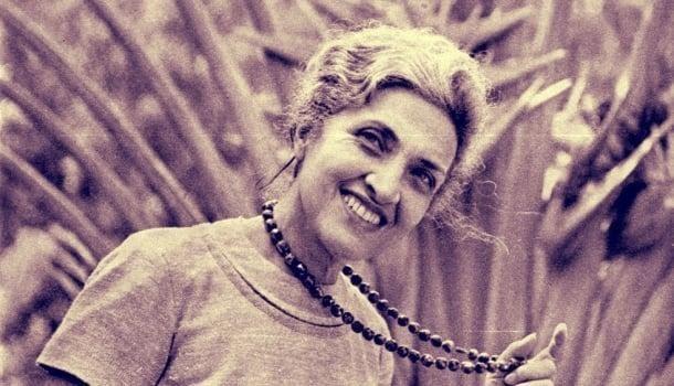 Cecília Meireles representada na Praia dos Amores